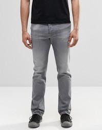 Серые прямые джинсы с выбеленным эффектом Diesel Buster 853T