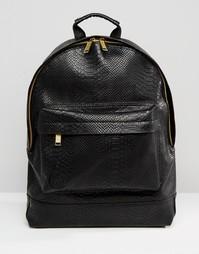 Рюкзак с эффектом кожи питона Mi-Pac - Черный