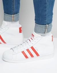 Белые кроссовки adidas Originals Pro Model S75928 - Белый