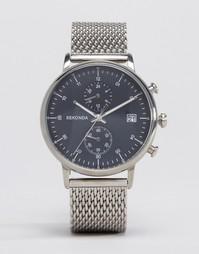 Серебристые часы с хронографом и сетчатым браслетом Sekonda