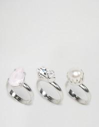 3 кольца с кристаллами Swarovski Krystal
