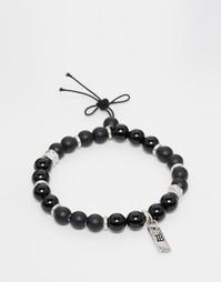Черный браслет из бусин Icon Brand - Черный