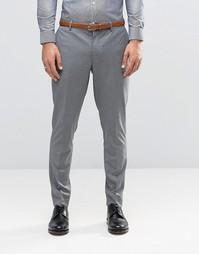 Серые премиум-брюки скинни Jack & Jones - Светло-серый