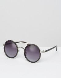 Солнцезащитные очки в круглой оправе Missguided - Черный