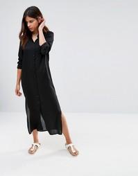 Платье-рубашка Noisy May Hannah - Черный