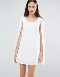 Цельнокройное платье-накидка Lavish Alice - Белый