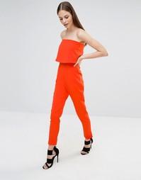 Комбинезон-бандо с разрезом сзади Lavish Alice - Оранжевый