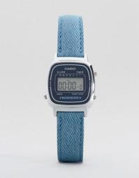 Часы с синим кожаным ремешком Casio LA670WEL-2A2EF - Синий