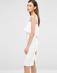 Платье-бандо миди с укороченным слоем и разрезом сзади Lavish Alice