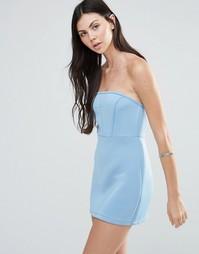 Платье-бандо Pixie & Diamond - Светло-голубой
