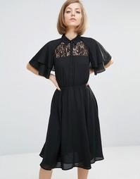 Платье-рубашка Lost Ink - Черный