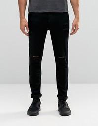 Облегающие рваные джинсы Antioch - Черный