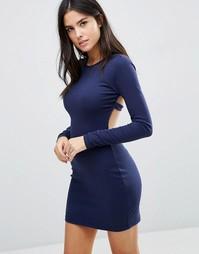 Платье-футболка с длинными рукавами Pixie & Diamond - Темно-синий