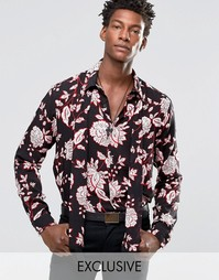 Рубашка классического кроя с шарфом Reclaimed Vintage - Черный