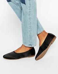 Атласные туфли на плоской подошве Vagabond Ayden - Черный