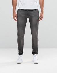 Выбеленные серые джинсы скинни с покрытием Antioch - Серый