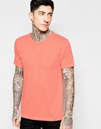 Однотонная футболка Brave Soul - Оранжевый