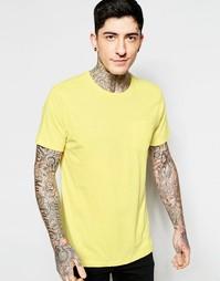 Однотонная футболка Brave Soul - Желтый