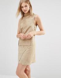 Платье мини из искусственной замши с заниженной талией Shades of Grey