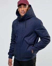 Темно-синяя куртка с капюшоном на подкладке Borg ASOS - Темно-синий