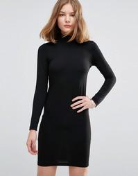 Платье-джемпер с высоким воротом JDY - Черный
