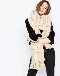 Легкий oversize‑шарф в полоску ASOS - Stone