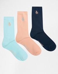 Набор из 3 пар носков Penguin - Коралловый
