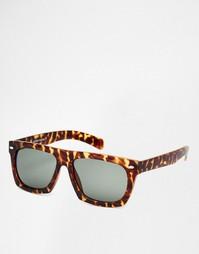 Солнцезащитные очки в черепаховой оправе с плоским верхом Jeepers Peep
