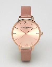 Розово-золотистые часы с большим циферблатом Olivia Burton OB15BD78