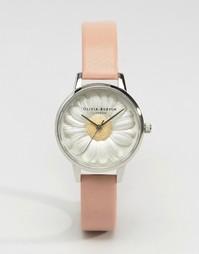 Часы с цветочным дизайном и кожаным ремешком Olivia Burton Flower Show