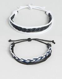 Набор браслетов из искусственной кожи с плетеным дизайном ASOS