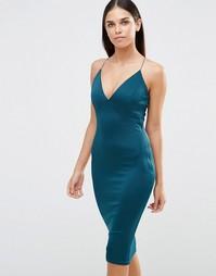 Платье миди AX Paris - Сине-зеленый