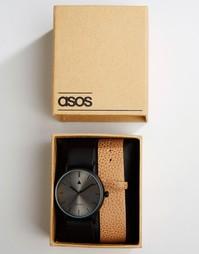 Часы со сменным фактурным ремешком ASOS - Мульти