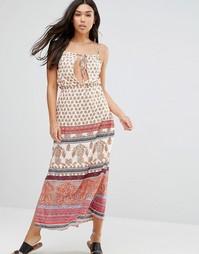 Пляжное платье макси с принтом Anmol - Красный многоцветный