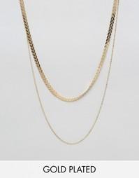 Позолоченное ожерелье в два ряда Nylon - С золотым покрытием