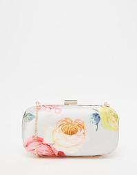 Атласный клатч с цветочным принтом ASOS Bridesmaid - Мульти