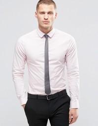 Комплект из облегающей розовой рубашки с длинными рукавами и темно-сер Asos