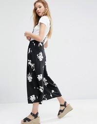 Юбка-шорты с цветочным принтом ASOS - Мульти