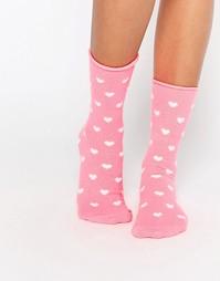Носки с сердечками Plush - Pink heart
