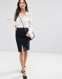 Черная джинсовая юбка-карандаш ASOS - Черный