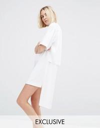 Платье-рубашка на молнии House Of Sunny - Белый