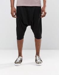 Легкие трикотажные шорты с заниженным шаговым швом ASOS - Черный