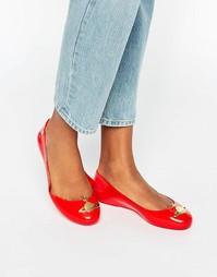 Красные туфли на плоской подошве Vivienne Westwood for Melissa Space L