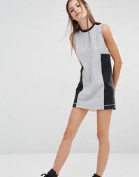 Платье со вставкой Reebok - Серый