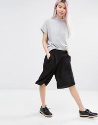 Юбка-шорты с широкими штанинами Monki - Черный