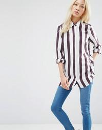 Полосатая рубашка с разрезом сзади ASOS - Мульти