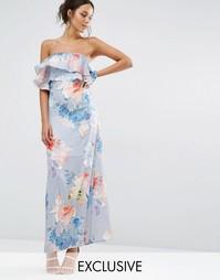 Платье макси с цветочным принтом Every Cloud - Многоцветный принт