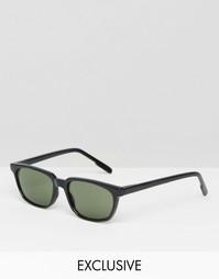 Квадратные солнцезащитные очки Reclaimed Vintage - Черный
