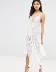 Кружевное платье миди For Love and Lemons Rosemary - Слоновая кость