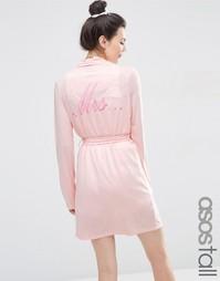 Трикотажный халат ASOS TALL BRIDAL - Розовый